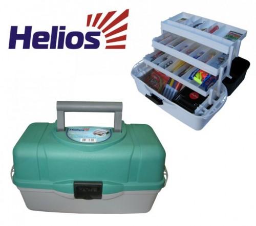 helios ящик рыболова двухполочный helios