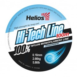 Леска Helios Hi-tech Line Nylon Transparent 0,18-0,70mm/100 метров