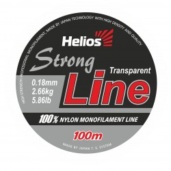 Леска Helios Strong Line Nylon Transparent 0,18-0,50mm/100 метров