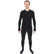 Термобелье комплект Thermo-Fleece флис до -30 С, черный, Helios